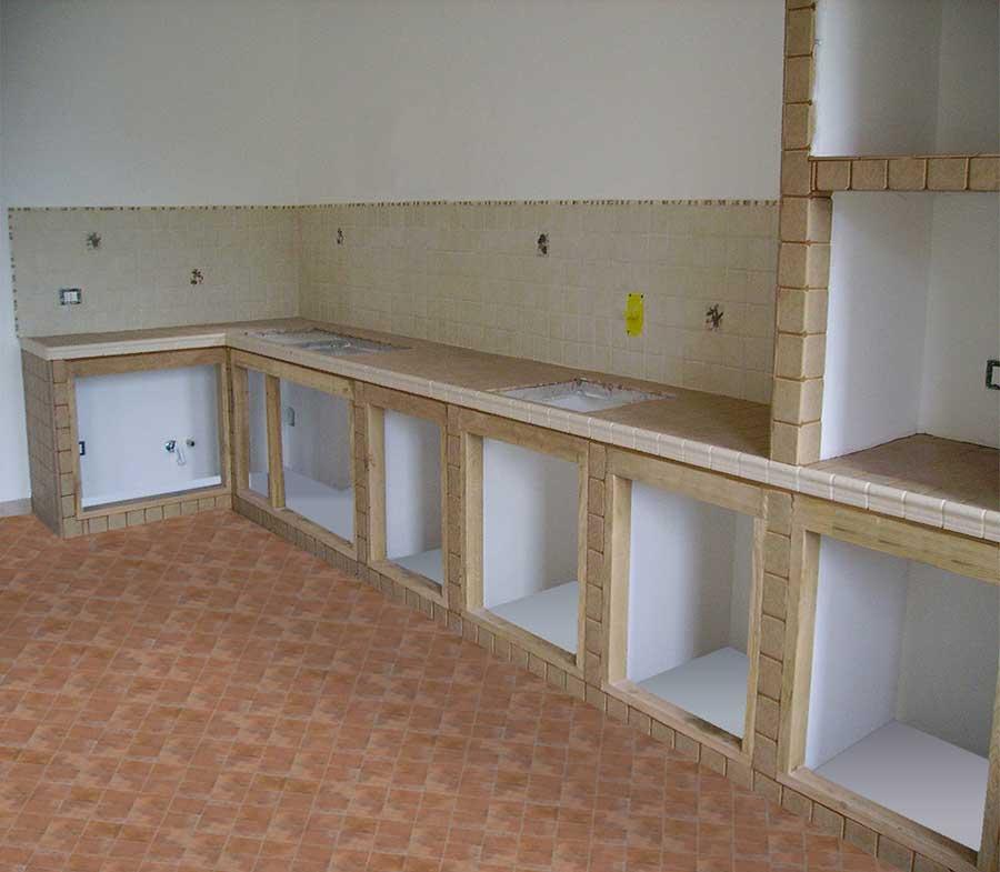 Schiena per cucine in muratura su misura