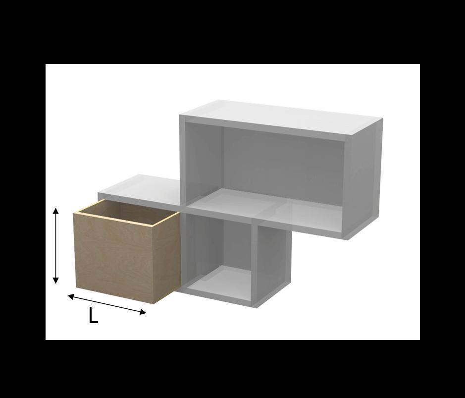Scaffali Componibili Per Negozi.Contenitore Per Tetris In Betulla