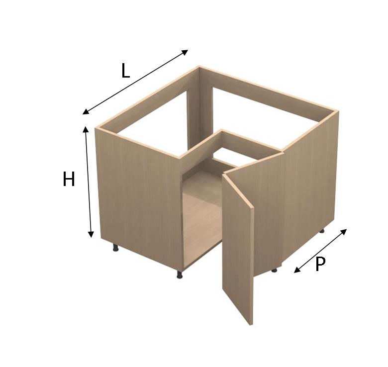 Base angolo per lavello COMBY