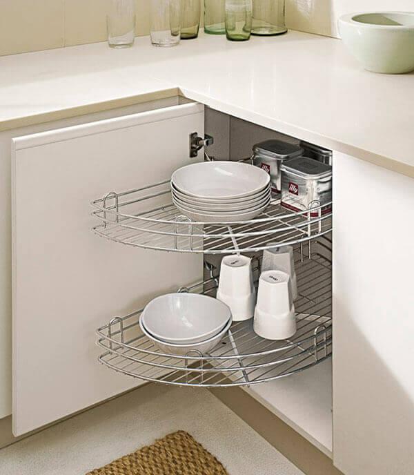Girello mezzaluna per cucina - Base angolo cucina ...