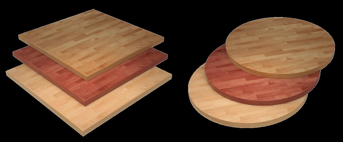 Piano cucina in legno lamellare massello quaato e tondor