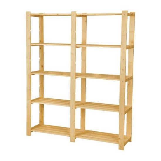 Scaffali e librerie scaffale elba con 5 ripiani for Scaffali in legno grezzo