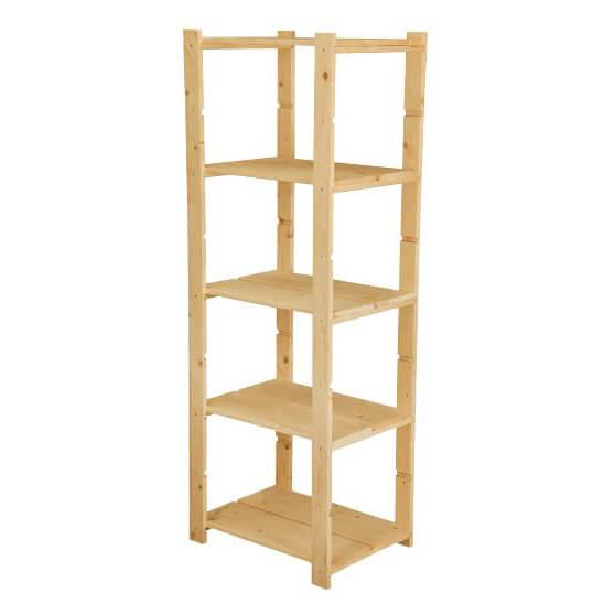 Scaffali e librerie scaffale fai da te con o ripiani with for Scaffali in legno componibili