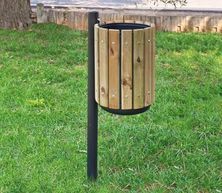 Cestino in legno per esterni malone for Vendita arredo urbano