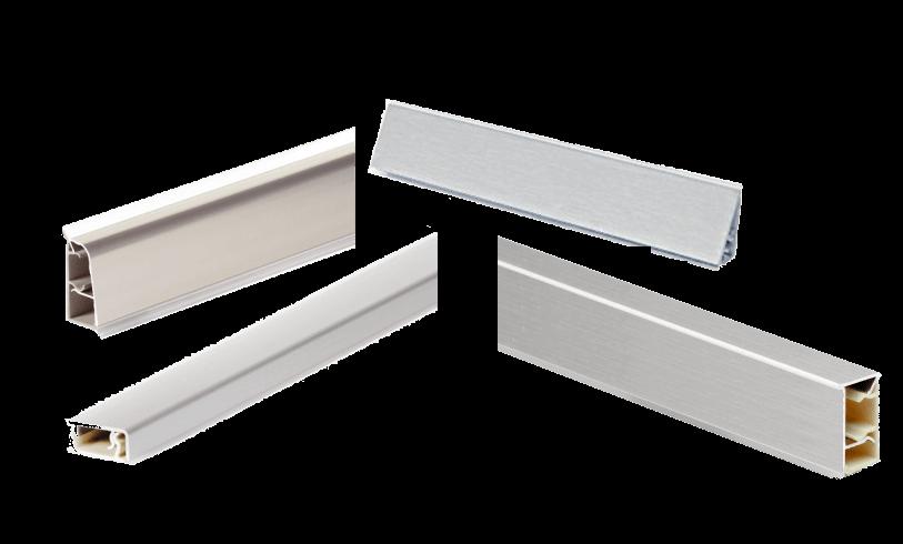 Alzatine in alluminio per top da cucina for Profili alluminio leroy merlin