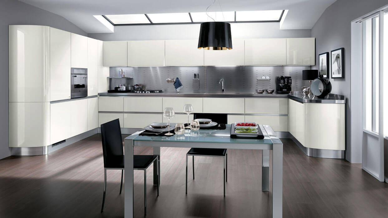 Schienale per cucine in acciaio inox - Cucine scavolini basic ...
