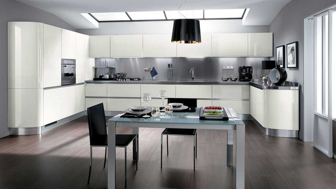 Schienale per cucine in acciaio INOX