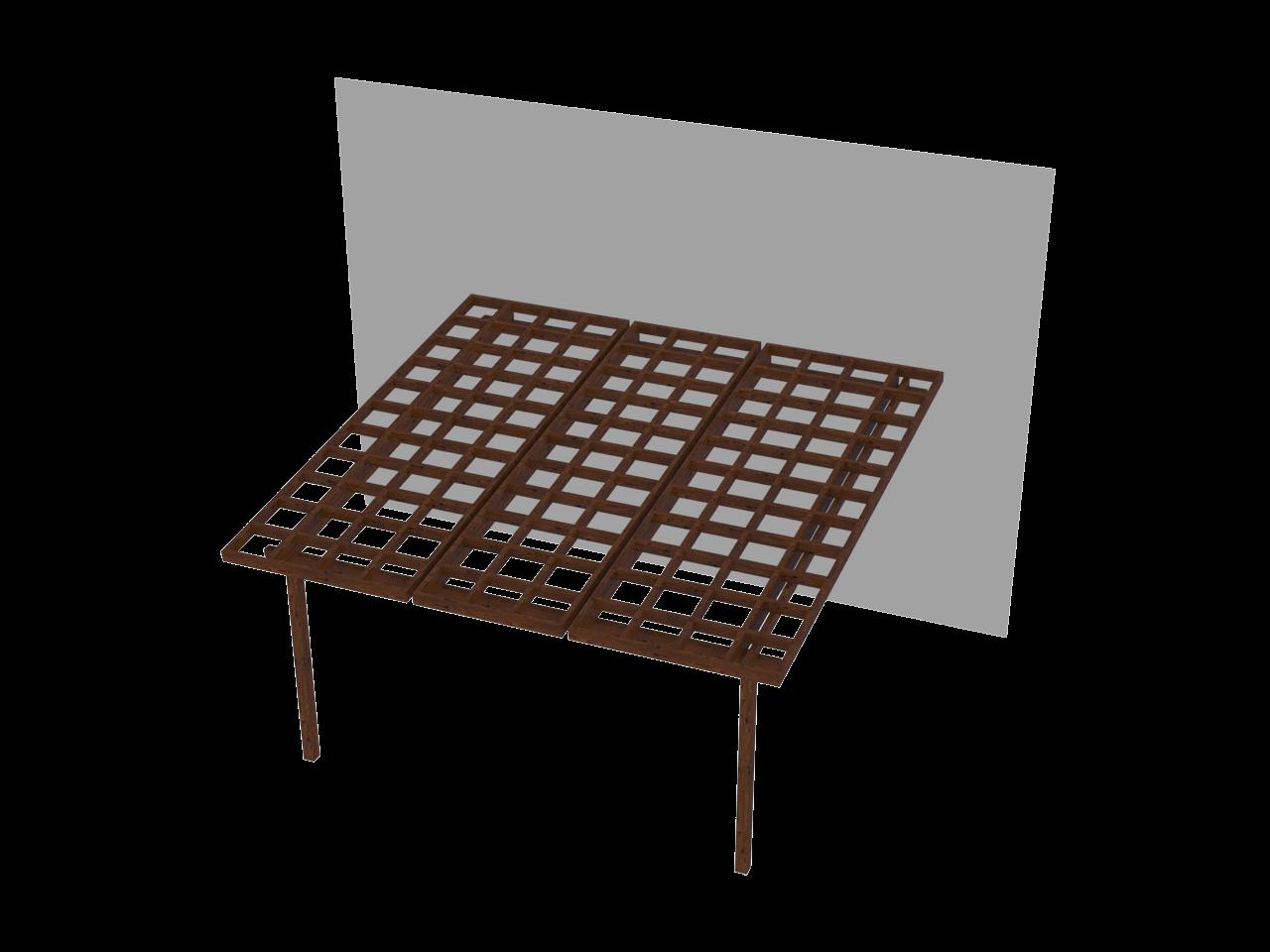 Pergola in legno impregnato stella addossata for Pergola addossata in kit