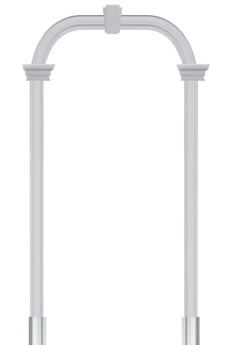 Rivestire Un Arco In Legno cornice ad arco in pe per vani