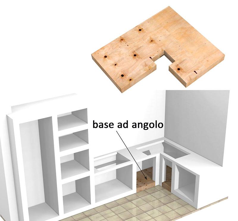 Base per cucine in muratura su misura