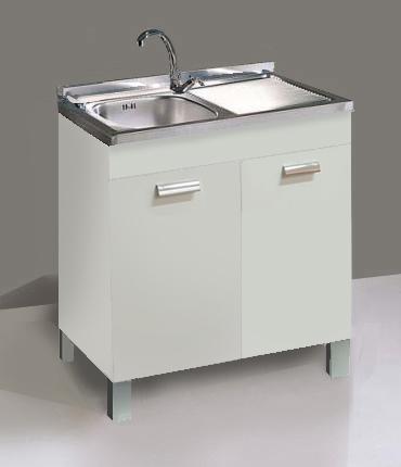 Base lavello per cucina da 80 cm negozio online - Mobili per lavello ...