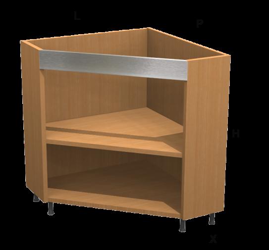 Base ad angolo diagonale kitchen - Mobile ad angolo cucina ...