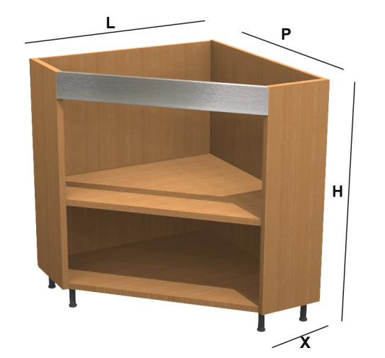 Base ad angolo diagonale kitchen - Mobili ad angolo per cucina ...