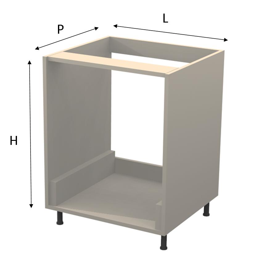 Base per forno for Mobile per incasso forno e piano cottura