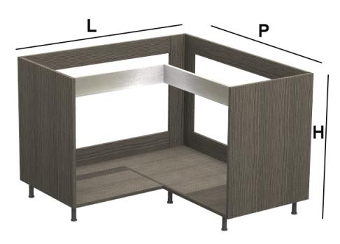 base angolo kitchen silver per cucine moderne su misura base per cucina