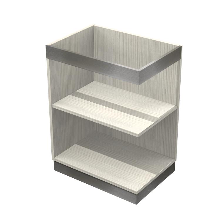 Basi Cucina In Kit.Base Terminale Kitchen Silver Per Cucine Moderne