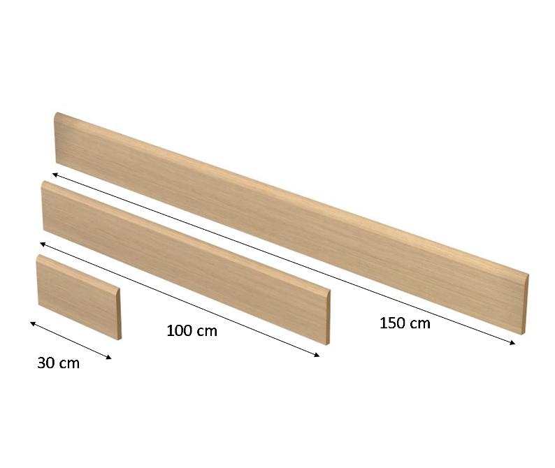 Battiscopa altezza 14 cm per rivestimento scale a misura bato14 - Rivestimento in legno per scale ...