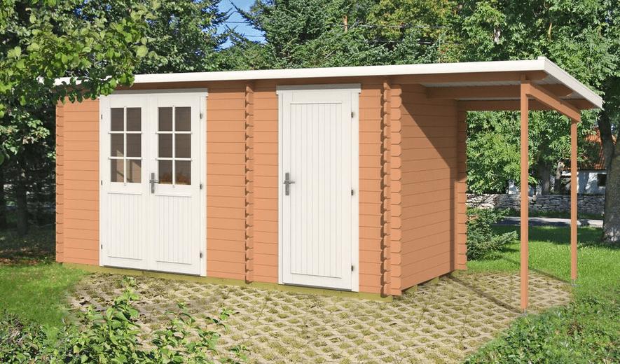 Casetta legno big gloria da 28 mm for Kit portico anteriore in vendita