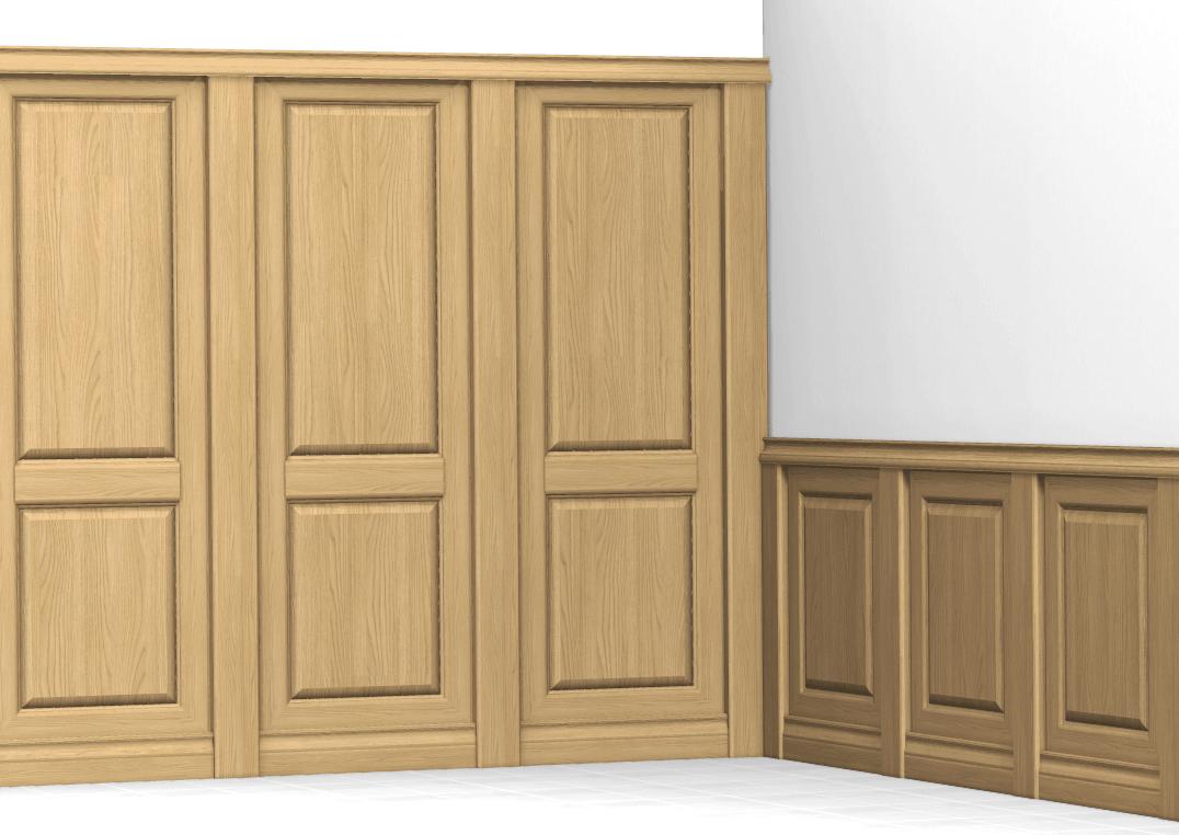 Boiserie bugnate in legno su misura for Boiserie in legno ikea