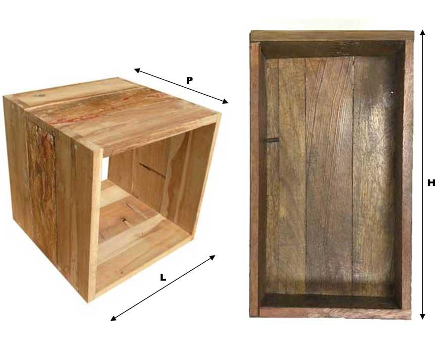Modulo Q Box In Legno Riciclato Su Misura