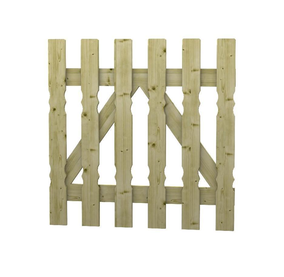 Cancelletto in legno impregnato alina for Cancelletto da giardino