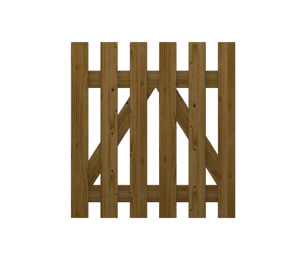 Cancello in legno impregnato alice for Recinzione legno