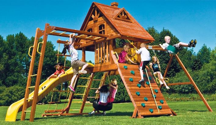 parco gioco rainbow carnival castle monkey con tetto in legno. Black Bedroom Furniture Sets. Home Design Ideas