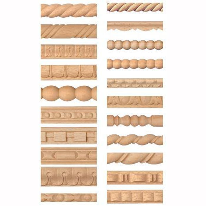 Asta di legno scolpite da 5 80 al pz for Cornici in vendita