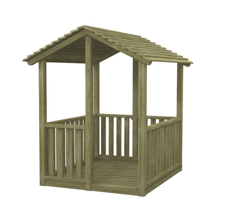 Casetta per bambini in legno impregnato cip cip for Grande casetta per bambini