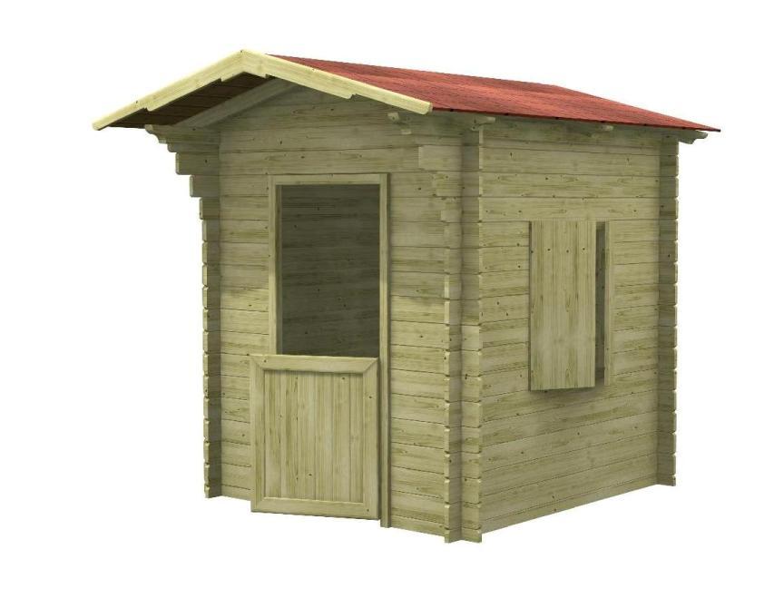 Casetta per bambini piripicchio in legno impregnato - Tavolini per bambini in legno ...