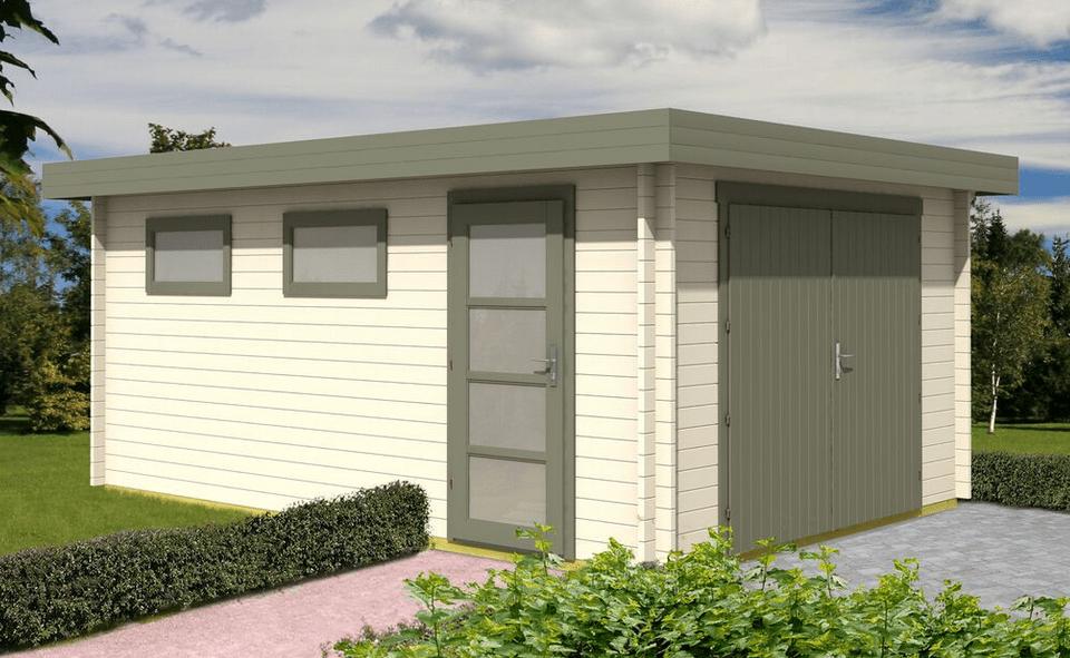 Casetta legno garage c 536x380 da 40 mm - Garage da giardino ...
