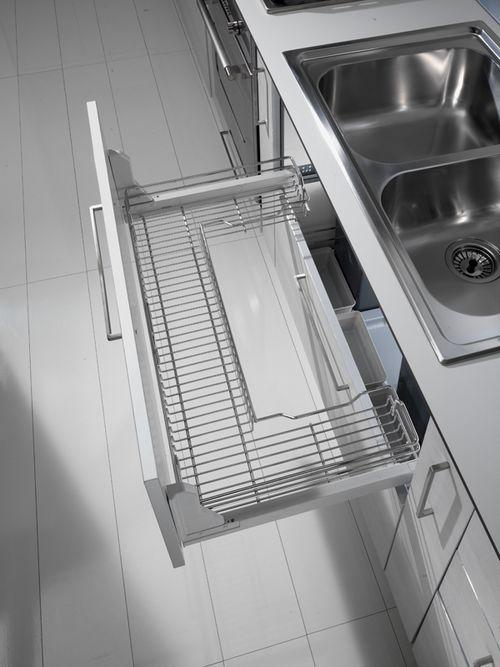 Cestelli Estraibili Per Cucina Sottolavello.Cestello Estraibile Sottolavello