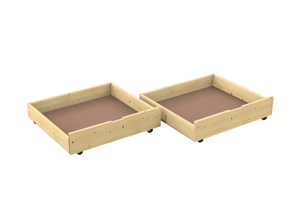 Cassetti Scorrevoli Sotto Letto : Cassetto contenitore sotto letto in abete negozio online