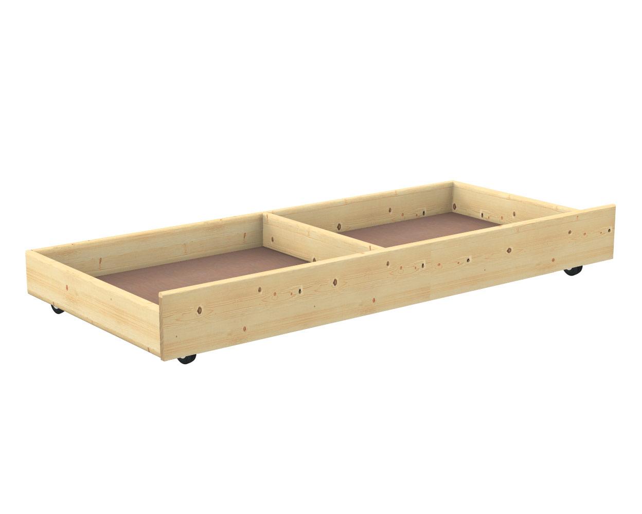 Cassetto contenitore sotto letto in abete negozio online - Cassetti sotto il letto ...