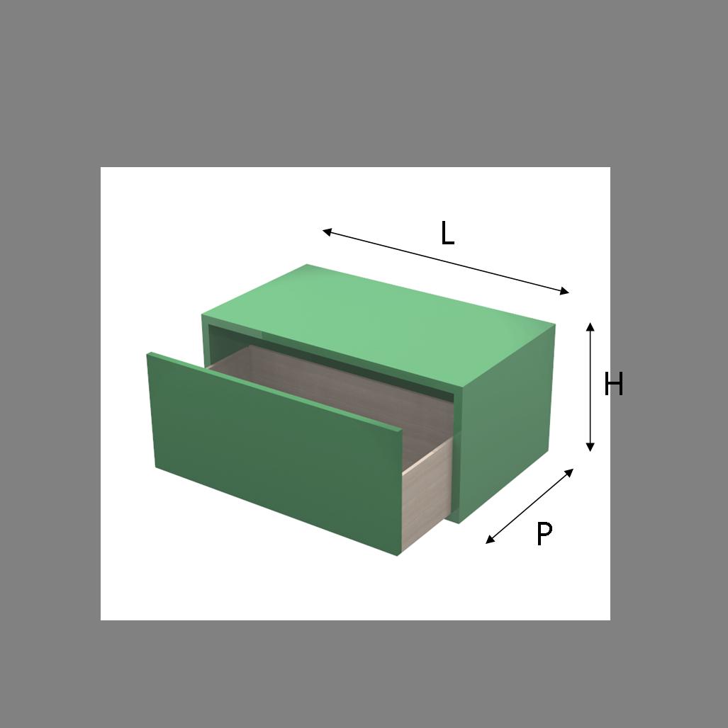 Cassetti Su Misura.Modulo Q Box Con Cassetto Laccato