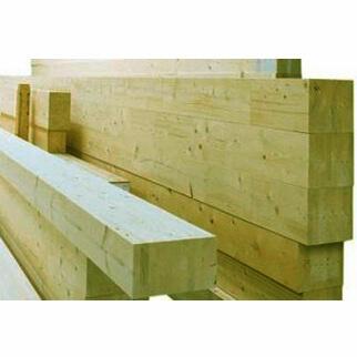 Travi in legno di abete lamellare impregnato in autoclave