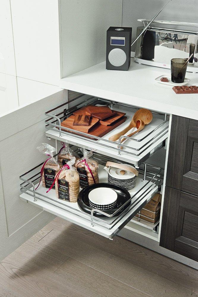 Cassettoni estraibili per cucina per vani ante battenti - Vibo accessori cucina ...