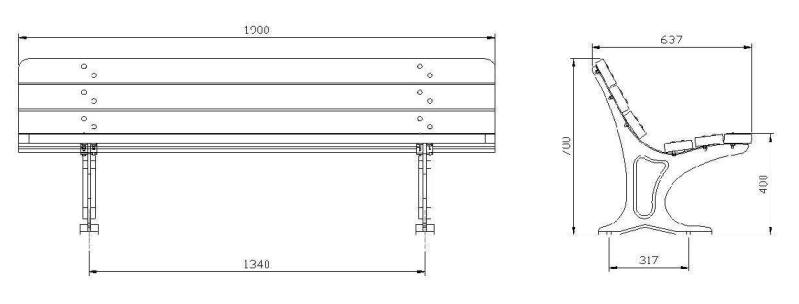 Dimensioni Panchine Da Giardino.Panchina Colonia