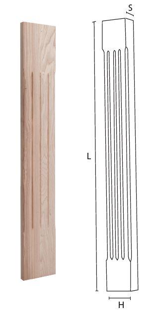 Colonna in legno negozio online mybricoshop.com