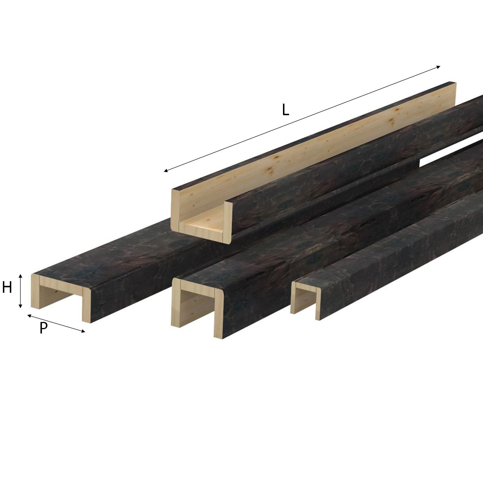 Copri trave rustiche in legno di abete for Copri travi finto legno