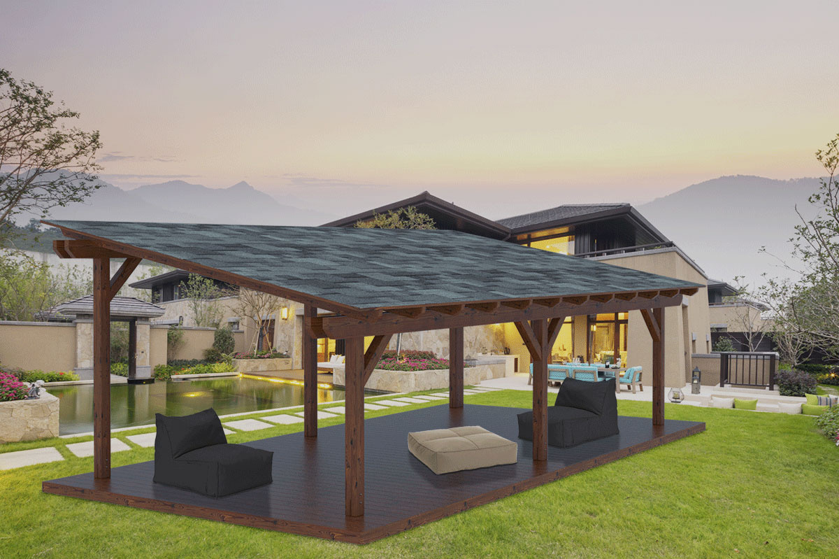 Pergola In Legno Gazebo In Kit Easy Double