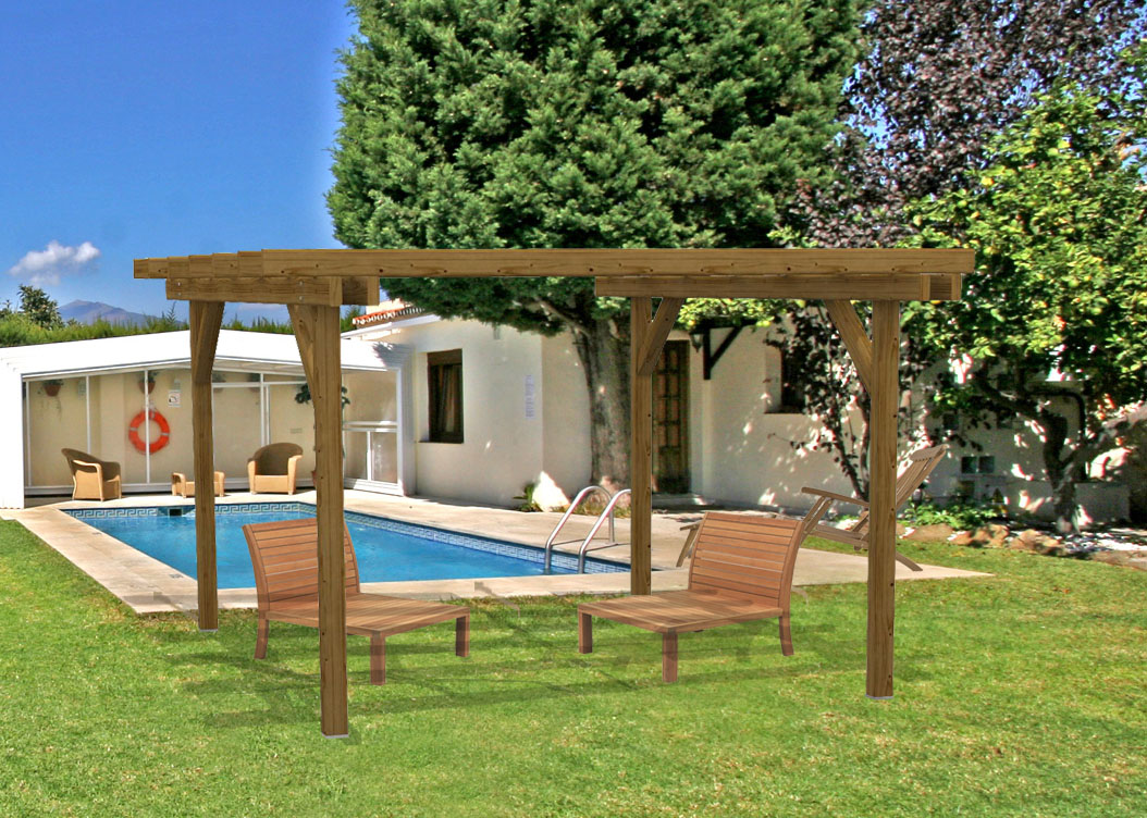 Pergola in legno gazebo doubleeasy eco - Pergola da giardino ...