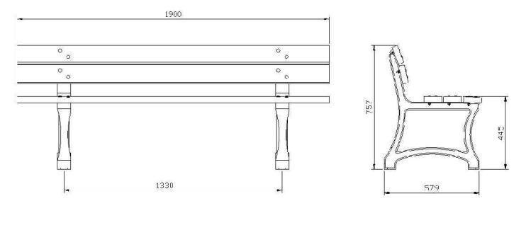 Dimensioni Panchine Da Giardino.Panchina Dresde