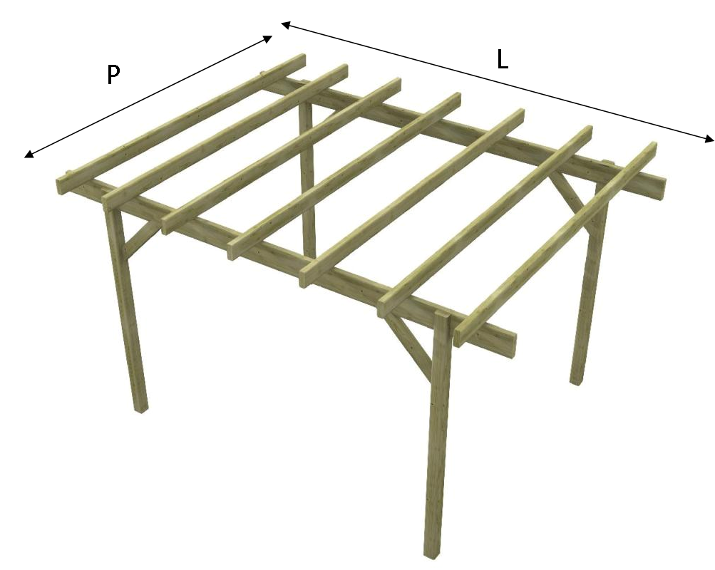 Pergolato in legno tettoia gazebo in legno impregnato easy for La pergola prezzi