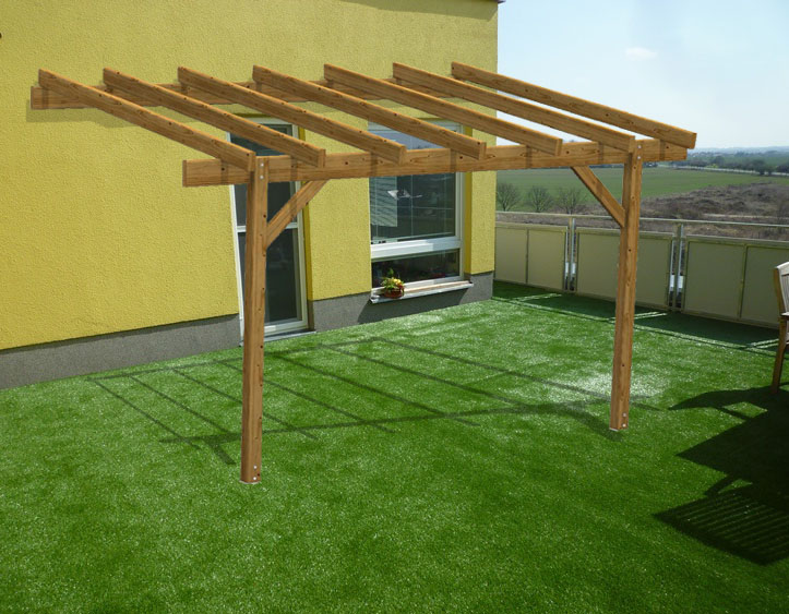 pergola in kit gazebo easy eco addossata