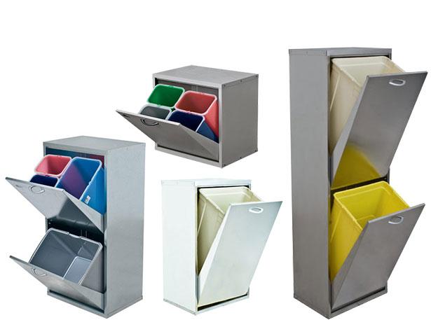 Contenitore in metallo per raccolta differenziata negozio online - Mobiletto raccolta differenziata ...
