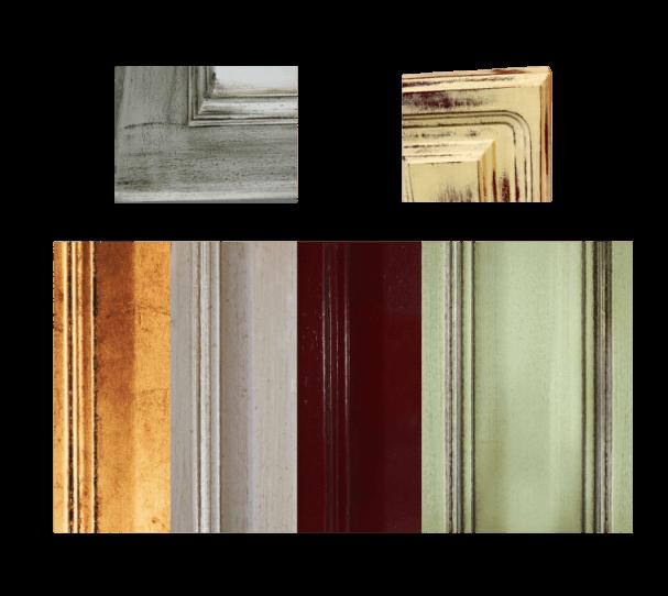 Verniciatura ad effetto invecchiato colori laccati