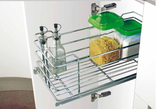 Cestelli Estraibili Per Colonna Cucina.Cestelli Estraibili Per Moduli Da 30 E Da 45 In Filo