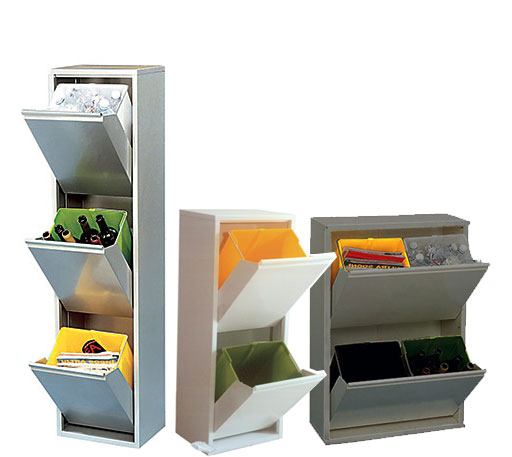 contenitore per esterno raccolta differenziata negozio
