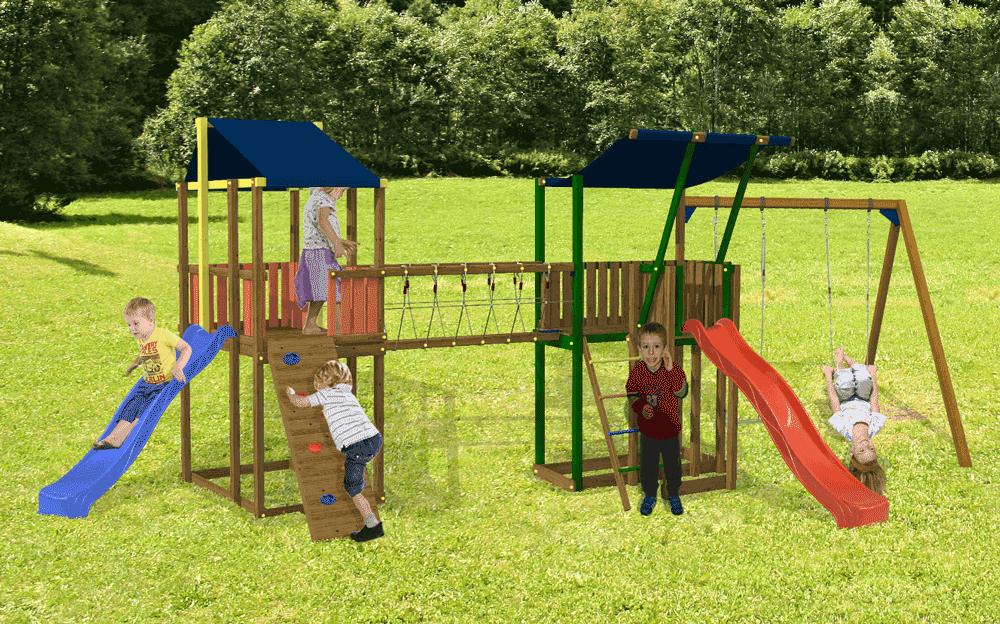 Parco gioco con scivolo altalene a arrampicata for Scivolo da giardino usato